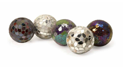 Abbot Mosaic Deco Balls - Set of 5