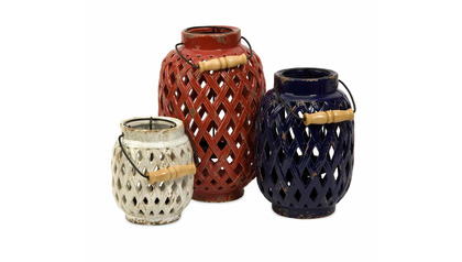Bailey Lattice Lanterns - Set of 3