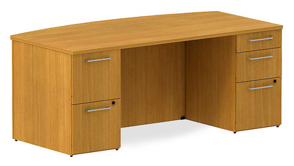 Realize Bow Front Double Pedestal Desk