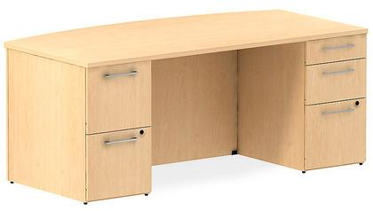 Realize Bow Front Double Pedestal Desk