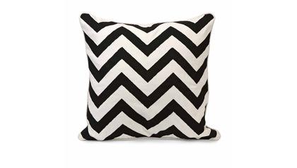 Chevron Black and White Pillow