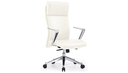 Draper Leather Executive Chair - White