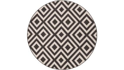Alfresco Square Rug - Black/Cream