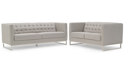 Alpha Sofa and Loveseat Set