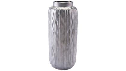 Antique Metallic Gray Large Vase