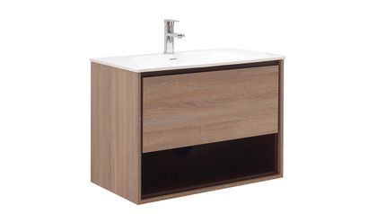 Sonoma Vanity Set - Restored Khaki Wood