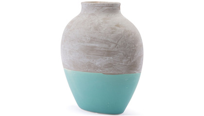 Azte Large Vase Gray & Teal