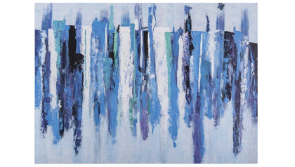 "Blue Landscape Canvas Art - 96"" x 70"""