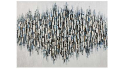 """Blue Lines Canvas Art - 96"""" x 70"""""""