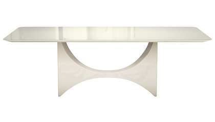 Cambrie Dining Table - Beige Glass