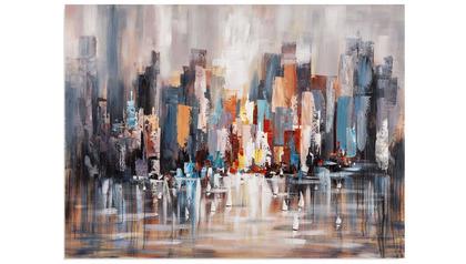 "Cityscape Daytime Canvas Art - 64"" x 48"""