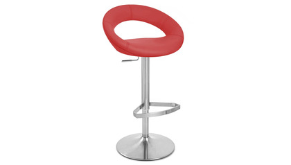 Red Crescent Bar Stool