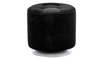 Danika Small Swivel Ottoman - Faux Fur