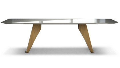 Davies 106 Inch Dining Table - Mont Blanc on Natural Oak