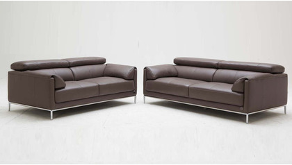 Eaton Sofa and Loveseat Set - Light Brown