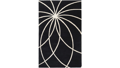 Forum Rug - Black and Ivory
