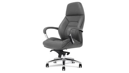 Gates Leather Executive Chair - Dark Grey