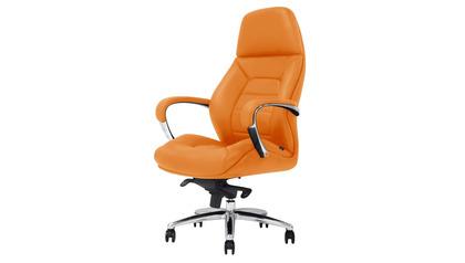 Gates Leather Executive Chair - Orange