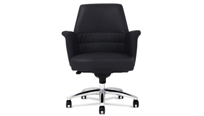 Geffen Leather Executive Chair - Black