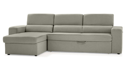 Clubber Sleeper Sectional - Light Gray