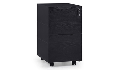 Hayes Mobile Filing Pedestal - Black Oak