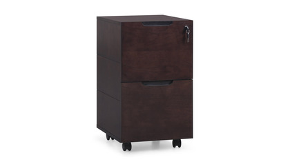 Hayes Mobile Filing Pedestal - Dark Walnut