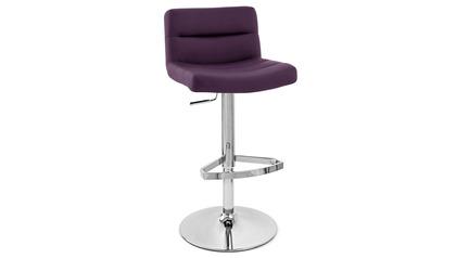 Purple Lattice Bar Stool