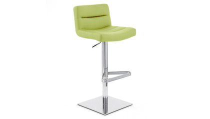 Lime Green Lattice Bar Stool - Square Base