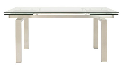Luciana 94 Inch Extension Table - Brushed Stainless