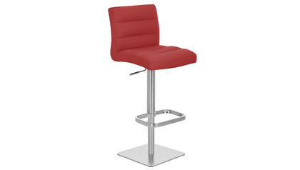 Red Lush Bar Stool - Square Base