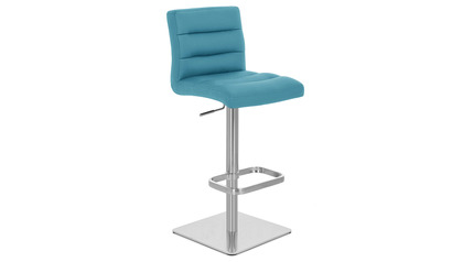 Teal Lush Bar Stool - Square Base
