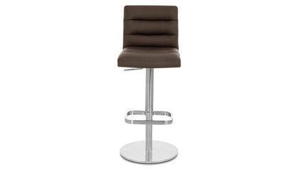 Brown Lush Bar Stool - Round Flat Base