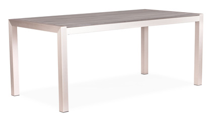 Luzern Dining Table Brushed Aluminum