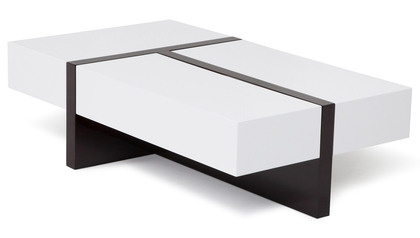 Mcintosh Rectangle Coffee Table - White and Ebony