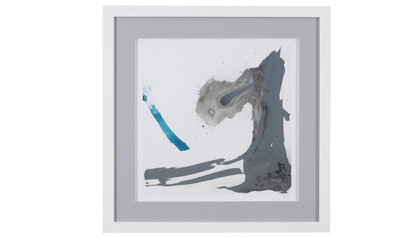"Minimal Framed Art in Blue - 31"" x 31"""