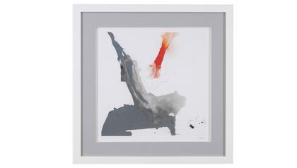 "Minimal Framed Art in Red - 31"" x 31"""