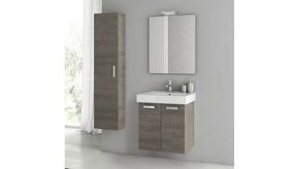 Cubical 22 Inch Vanity Set with Storage Cabinet