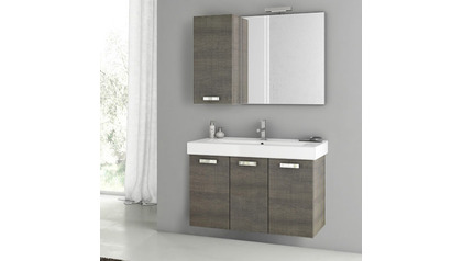 Cubical 37 Inch Vanity Set with Attached Storage Unit