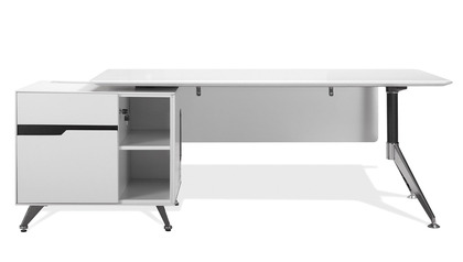 Darin Executive Desk with Left Cabinet