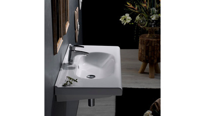 City Rectangle Ceramic 32 Inch Sink