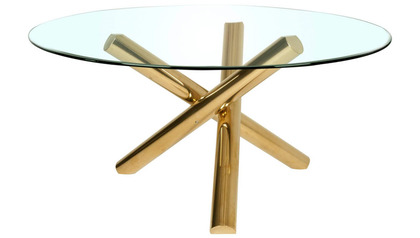 "Clear 60"" Round Dining Table Top"