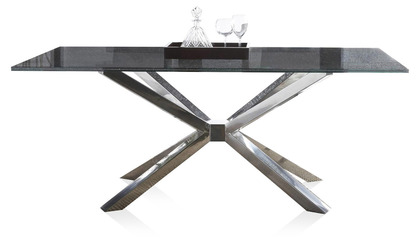 Cointet 75 Inch Dining Table - Crackle Glass
