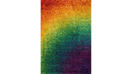Constellation Rainbow Shag Rug