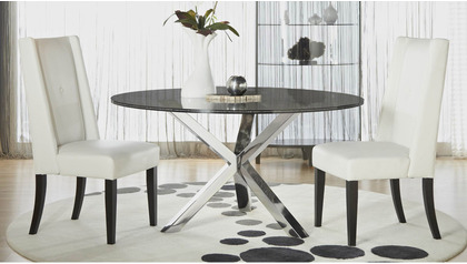 """Crackled 60"""" Round Dining Table Top"""
