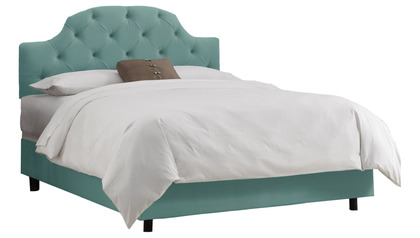 Evie Kids Tufted Curved Bed - Twin