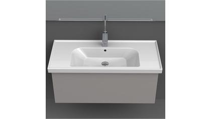 Frame Rectangle Ceramic 32 Inch Sink