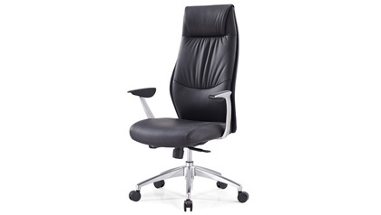 Franklin Leather Executive Chair - Black