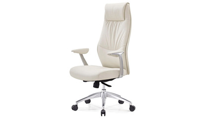 Franklin Leather Executive Chair - White