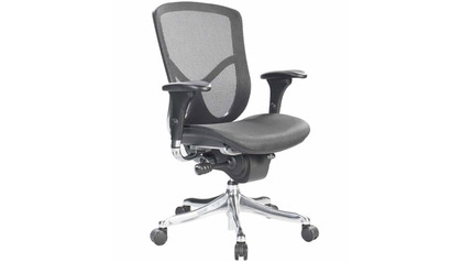 Fuzion Mesh Back Swivel Chair- Chrome Frame