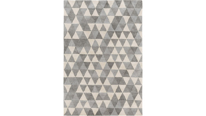 Prismatic Triangles Gray Rug